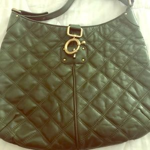 JCrew Green Hobo with Gold Hardware